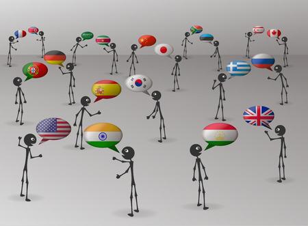 idiomas: lenguas que hablan Vectores