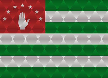 abkhazia: abkhazia low poly flag