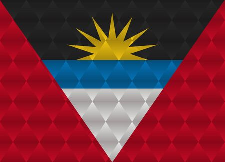 antigua: antigua and barbuda low poly flag