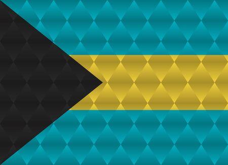bahamas: bahamas low poly flag