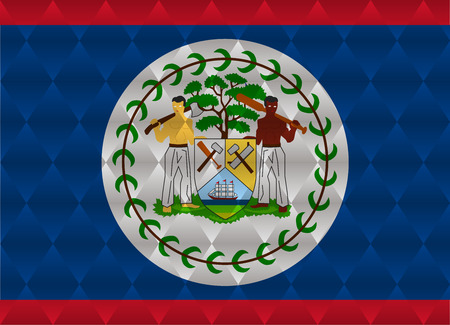belize: belize low poly flag