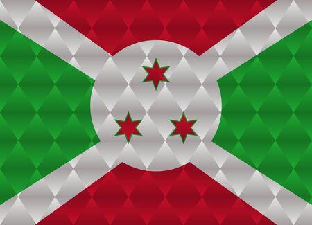burundi: burundi low poly flag