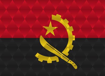 angola: angola low poly flag Illustration