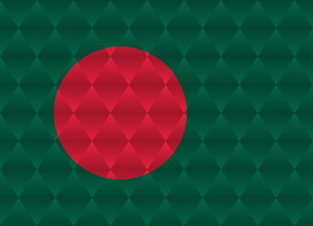 bangladesh: bangladesh low poly flag