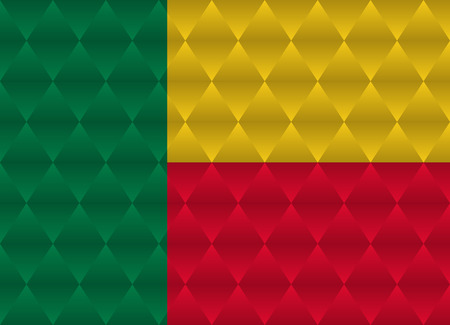 benin: benin low poly flag Illustration