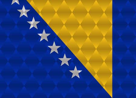 herzegovina: bosnia and herzegovina low poly flag