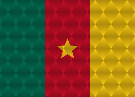 cameroon: cameroon low poly flag Illustration