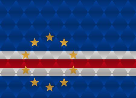 cape verde: cape verde low poly flag