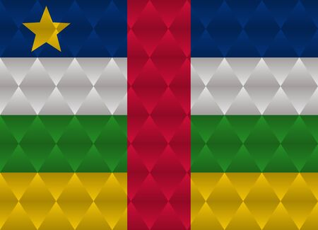 central african republic: central african republic low poly flag