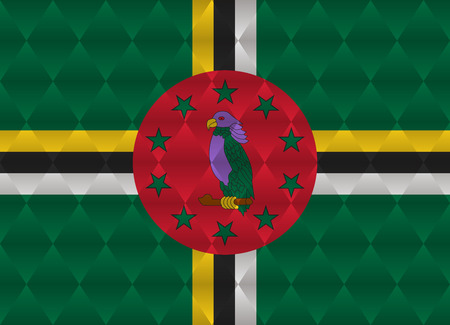 dominica: dominica low poly flag