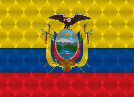 ecuador: ecuador low poly flag Stock Illustratie