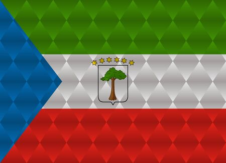 equatorial: equatorial guinea low poly flag Illustration