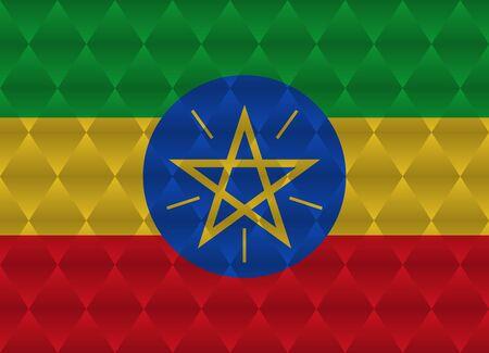 ethiopia abstract: ethiopia low poly flag