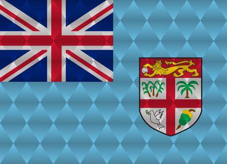 fiji: fiji low poly flag Stock Illustratie