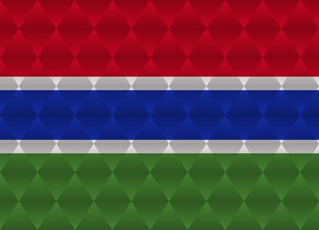 gambia: gambia low poly flag