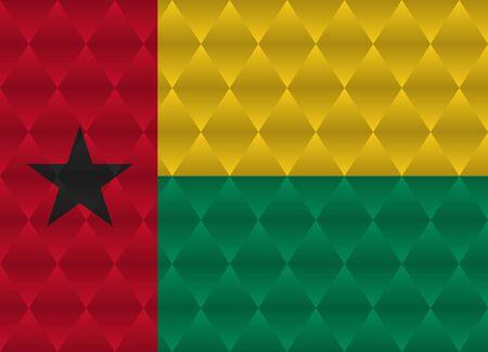 guinea bissau: guinea bissau low poly flag
