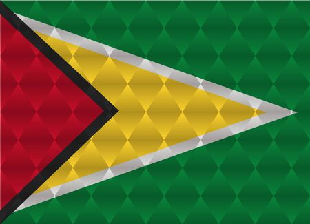 guyana: guyana low poly flag Illustration