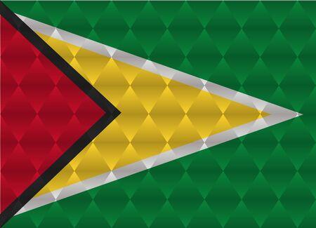 Guyana: guyana low poly flag Illustration