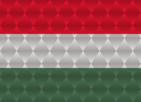 hungary: hungary low poly flag