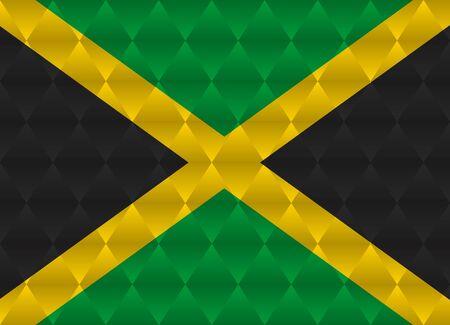 jamaica: jamaica low poly flag