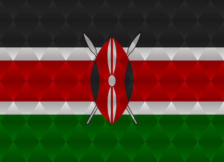 kenya: kenya low poly flag