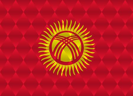 kyrgyzstan: Kirguistán bandera bajo poli