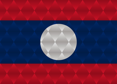 laos: laos low poly flag