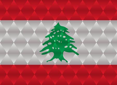 lebanon: lebanon low poly flag