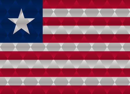 liberia: liberia low poly flag Illustration
