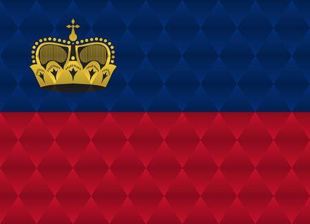 liechtenstein: liechtenstein low poly flag