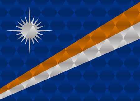 marshall: marshall islands low poly flag Illustration