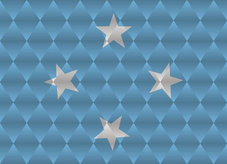 micronesia: micronesia low poly flag