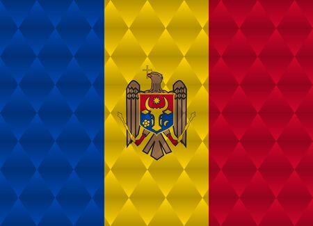 moldova: moldova low poly flag