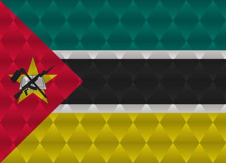 mozambique: mozambique low poly flag