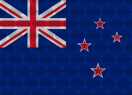 zealand: new zealand low poly flag Illustration