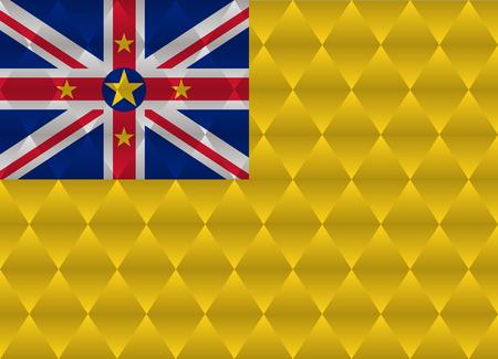 niue: niue low poly flag