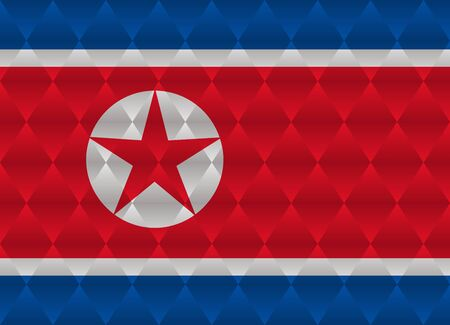 north korea: north korea low poly flag