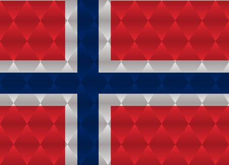 norway: norway low poly flag
