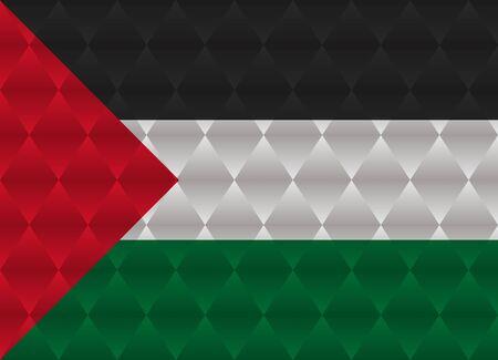 palestine: palestine low poly flag