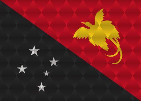 papouasie: Papouasie-Nouvelle-Guin�e low poly drapeau
