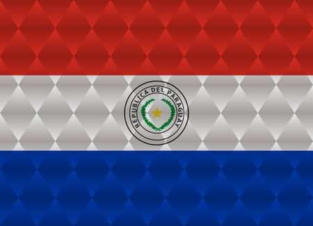 paraguay: paraguay low poly flag