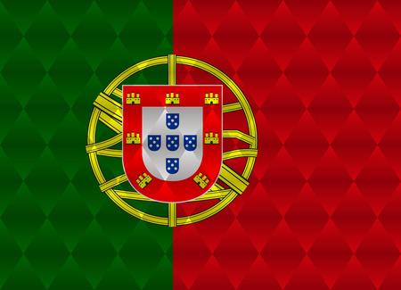 bandera de portugal: portugal bandera bajo poli