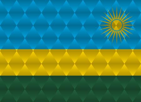 rwanda: rwanda low poly flag Illustration