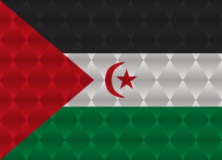 sahrawi arab democratic republic: sahrawi arab democratic republic low poly flag