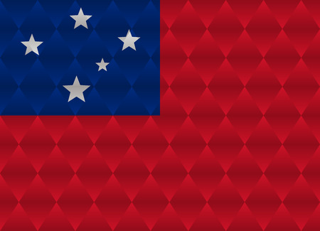 samoa: samoa low poly flag