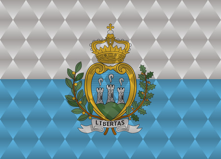 san marino: san marino low poly flag Illustration