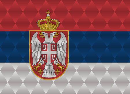 serbia: serbia low poly flag Illustration