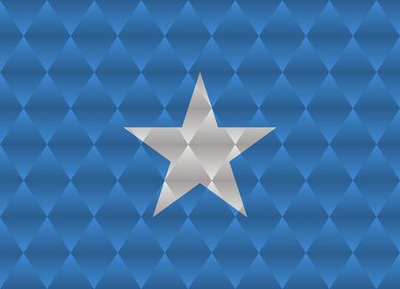 somalia: somalia low poly flag Illustration