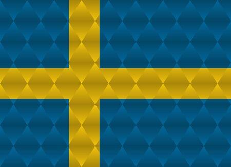 sweden: sweden low poly flag