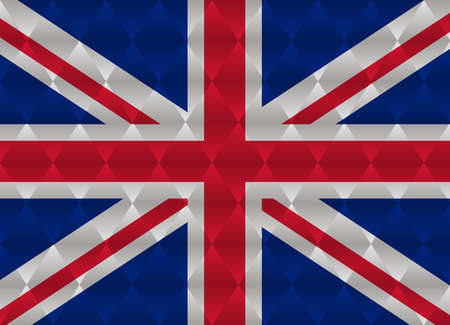 of the united kingdom: united kingdom low poly flag